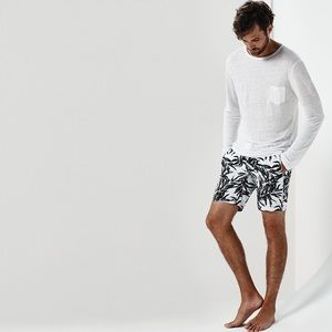 Onia Charles 7 Palm Silhouette Swim Trunks Size S